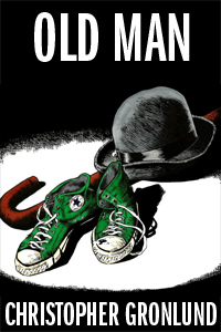 Cover to Old Man - bowler hat, cane, and green Converse Chuck Tasylor All Stars