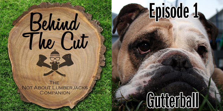 Behind the Cut Logo and a photo of an English Bulldog