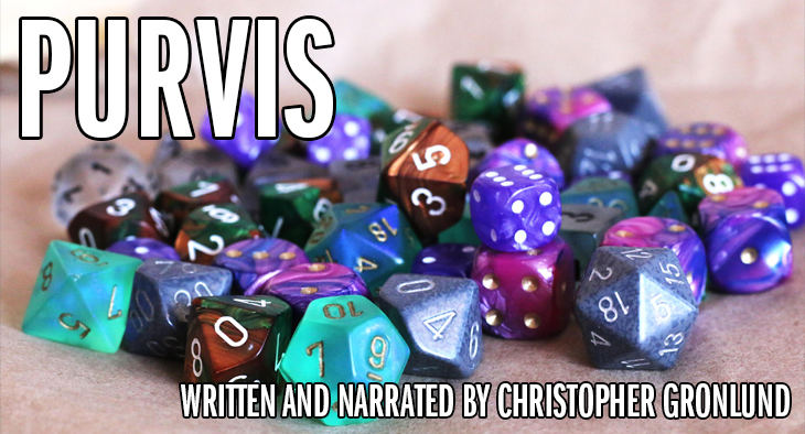 "Dungeons and Dragons dice - ""Purvis"""