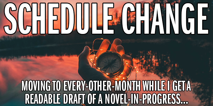 Hand holding a compass: Schedule Change